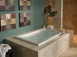 Therapeutic air massage bathtub