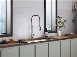 New faucet that refreshes the look of a kitchen