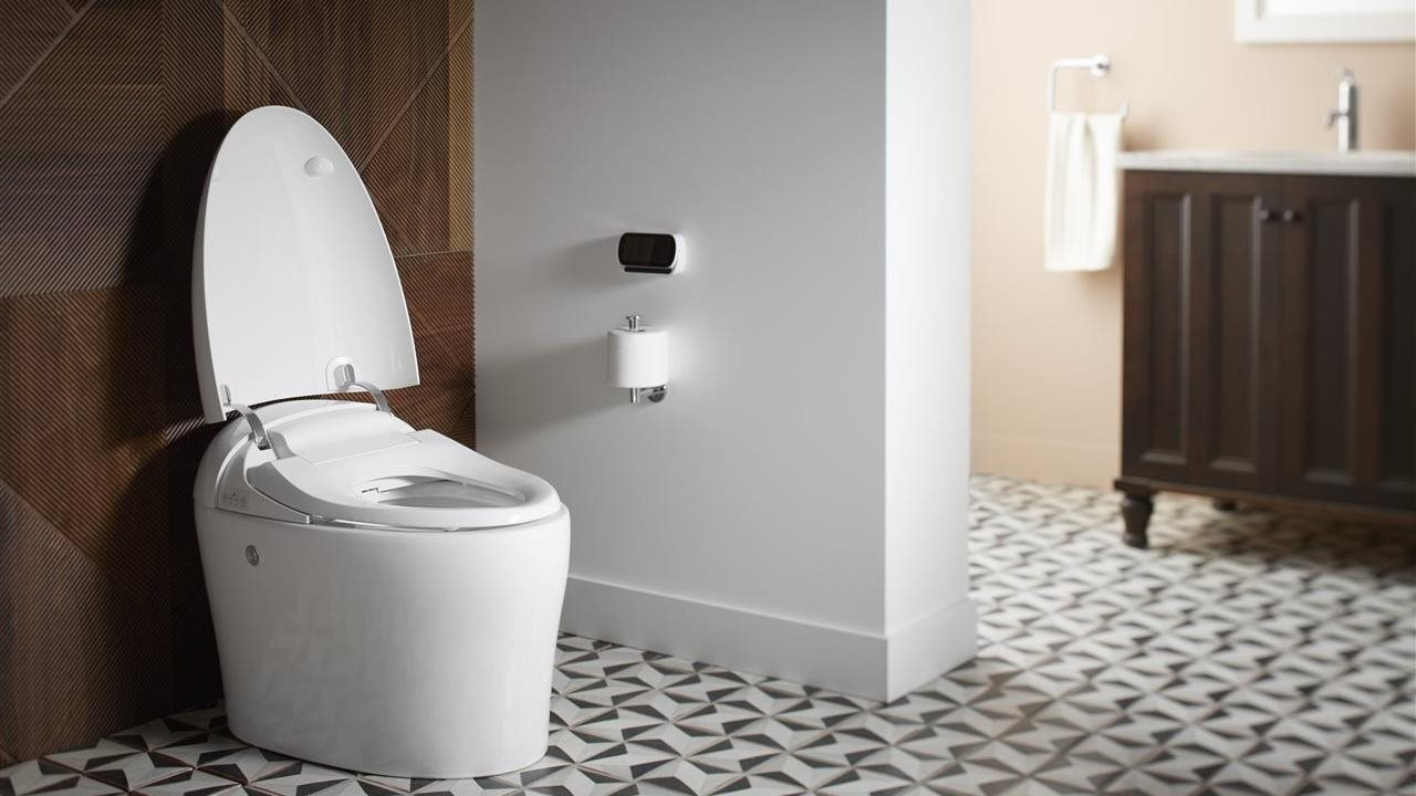 self cleaning toliet and bidet combonation with heated seat and night light