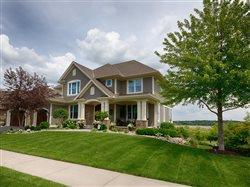 suburban house with low maintence landscaping