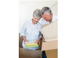 couple downsizing their belongings
