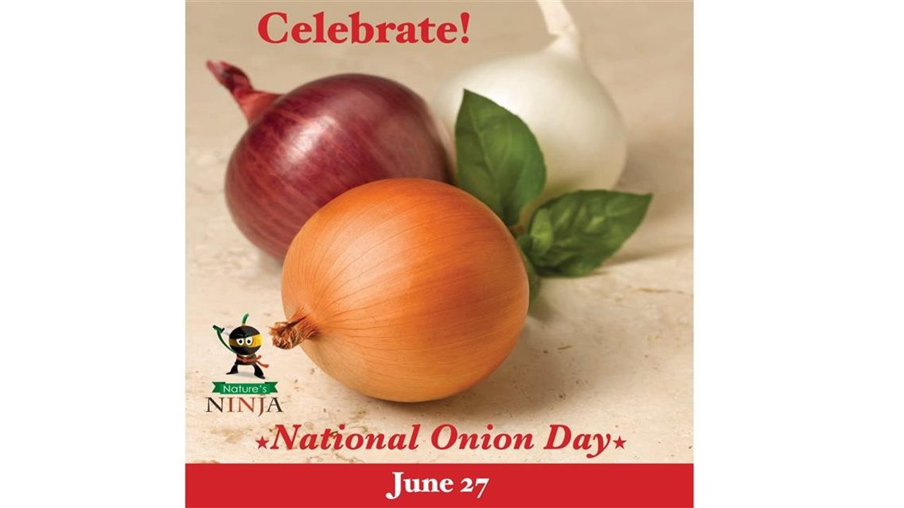 Graphic celebrate national onion day June 27
