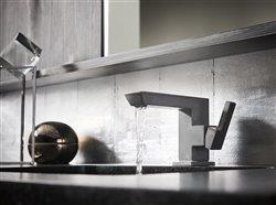 Beautiful faucet in upscale home