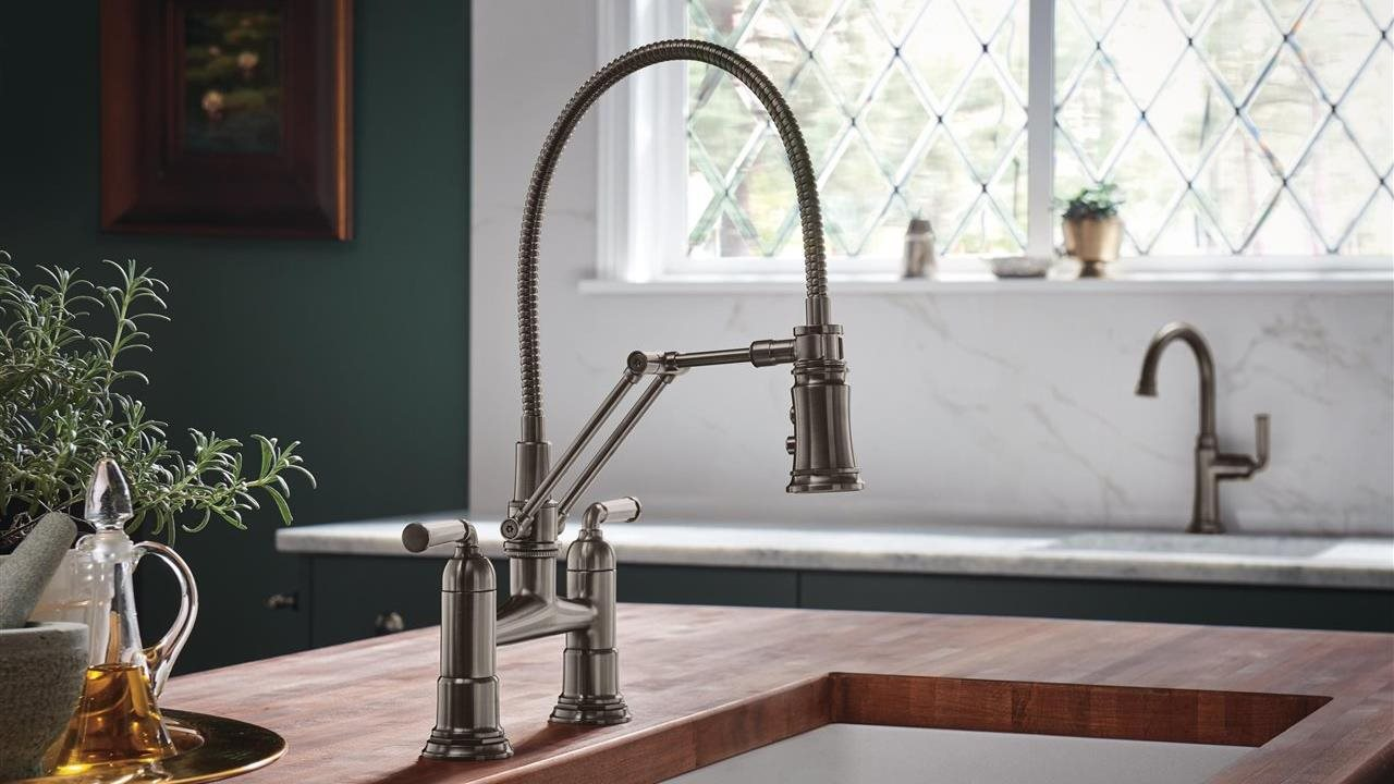beautiful faucet in upscale kitchen