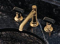 Brizo bath faucets in an upscale bath sink