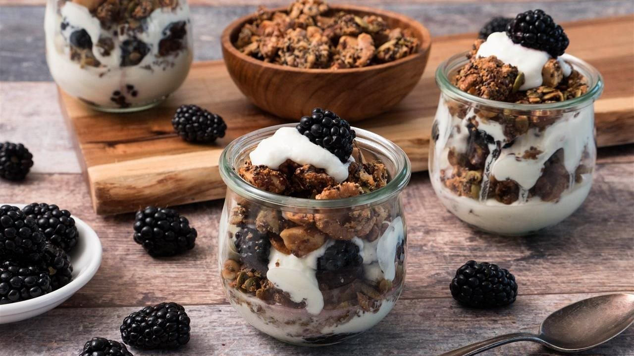 Stay healthy through out the year with Nutty Grain-Free Granola and Yogurt Parfaits