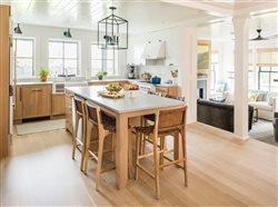 Jamestown Kitchen with beautiful hardwood cabinetry