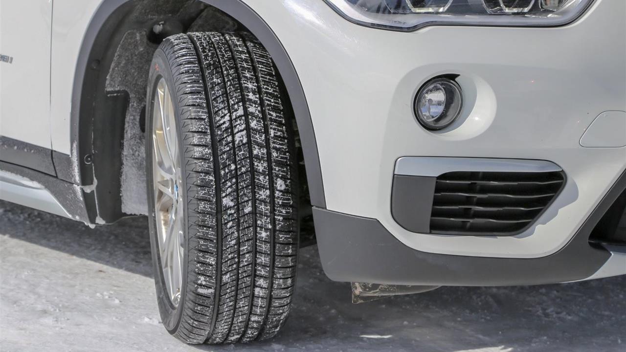 yokohama tire close-up in the winter