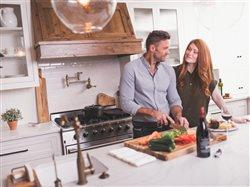 couple enjoying cooking in their clean kitchen