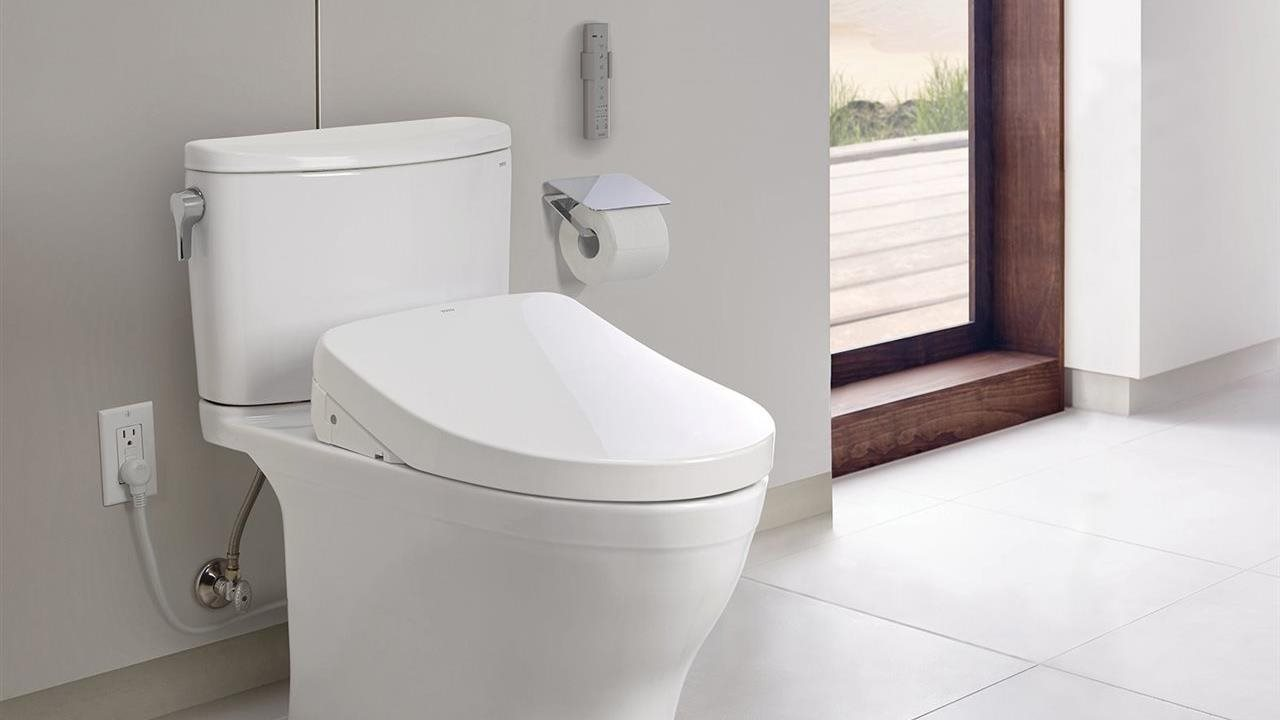Nexus Washlet plus in a luxurious and innovative bathroom