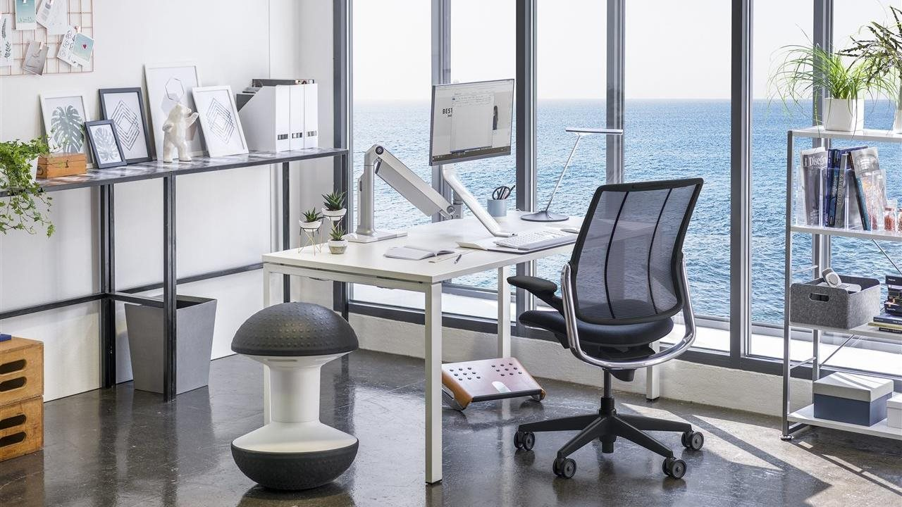 human scale chair in an upscale modern office