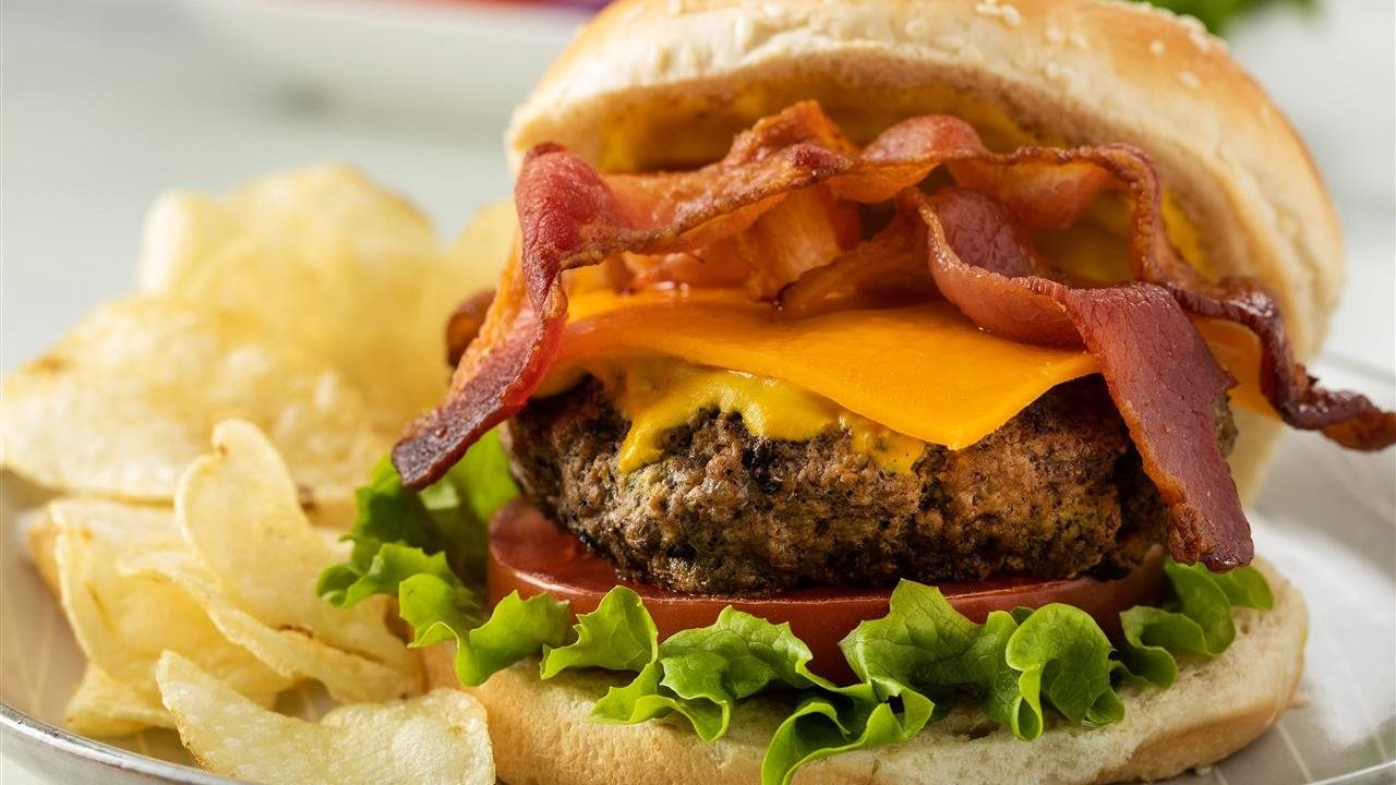 TRIPLE MUSTARD BACON CHEESEBURGER