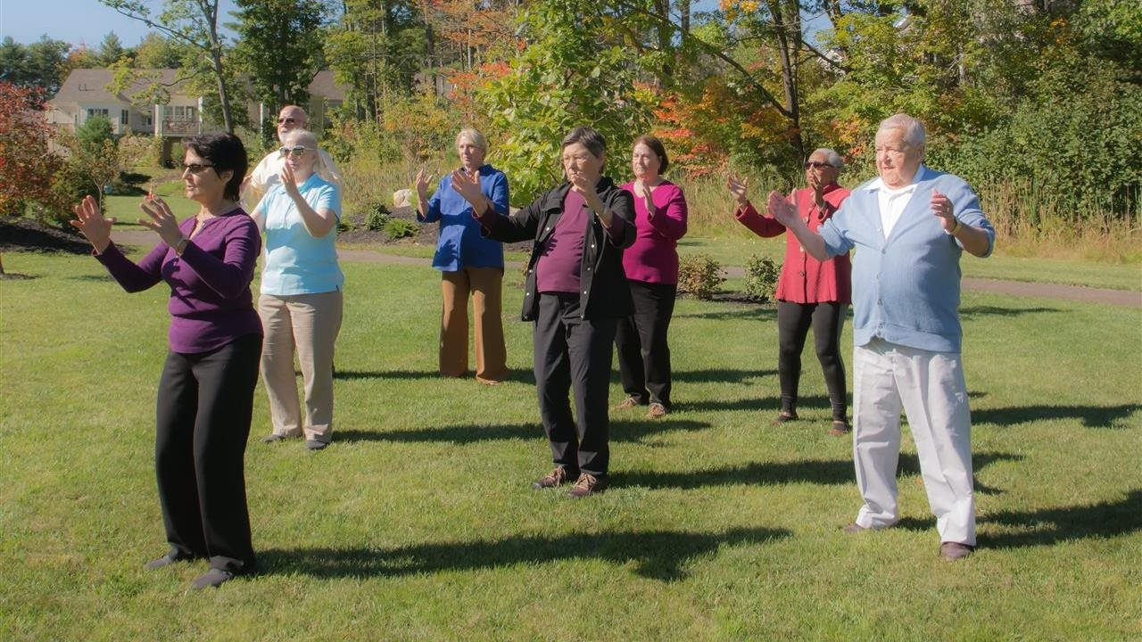 Anna Guest and others doing Tai Chi