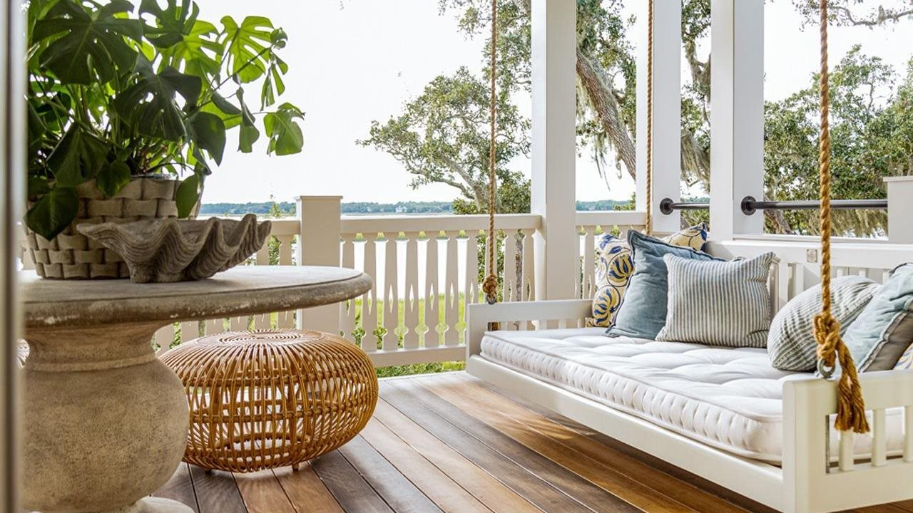 swing on a lovey porch