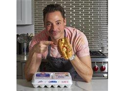 Jeff Mauro with chicago style pepper and egg sandwich