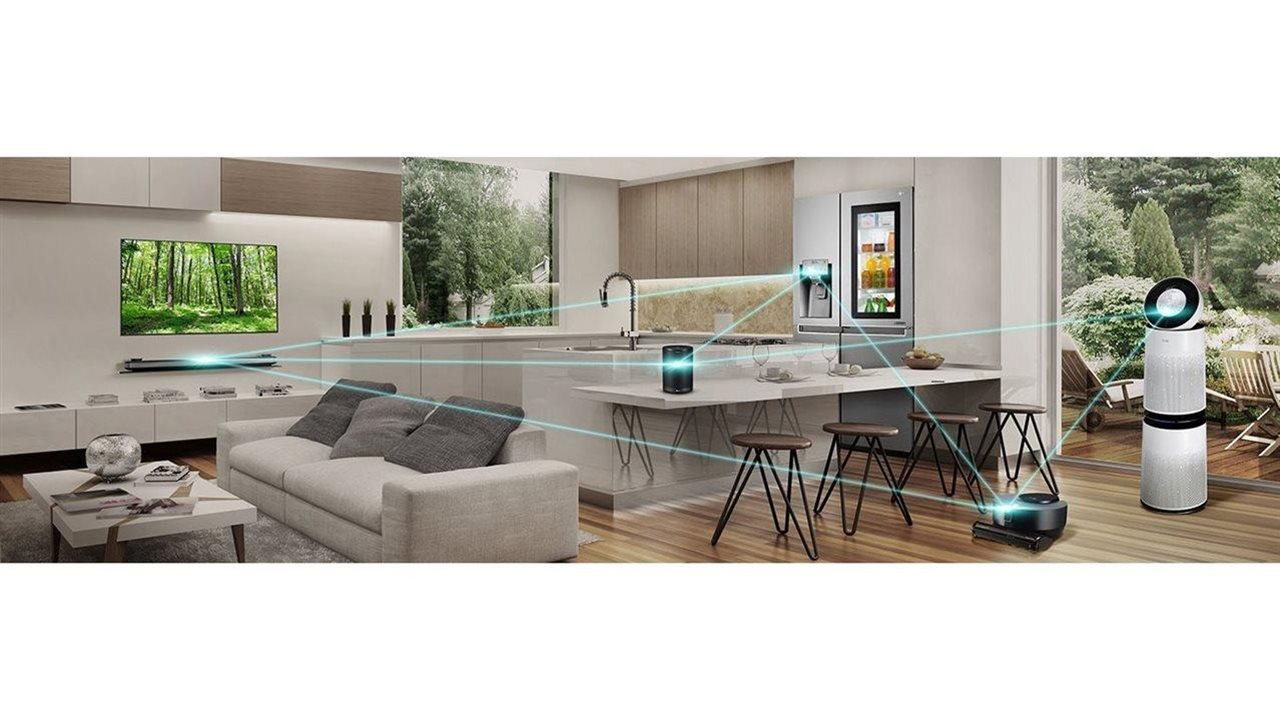 smart technology in kithen  and living area