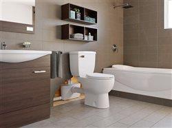 Saniflow toilet in bathroom