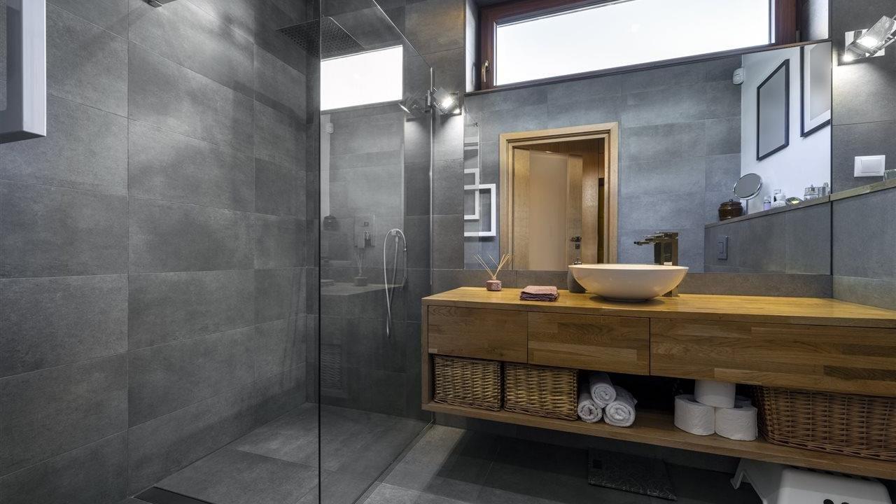 Lovely bathroom in lower level