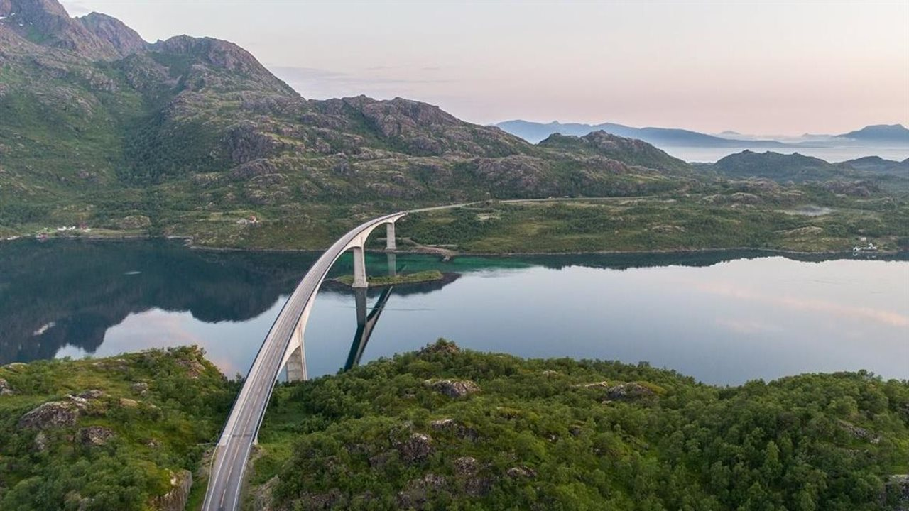 bridge over fjord