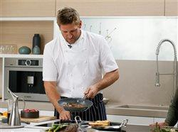 Curtis Cooking in Bosch Kitchen