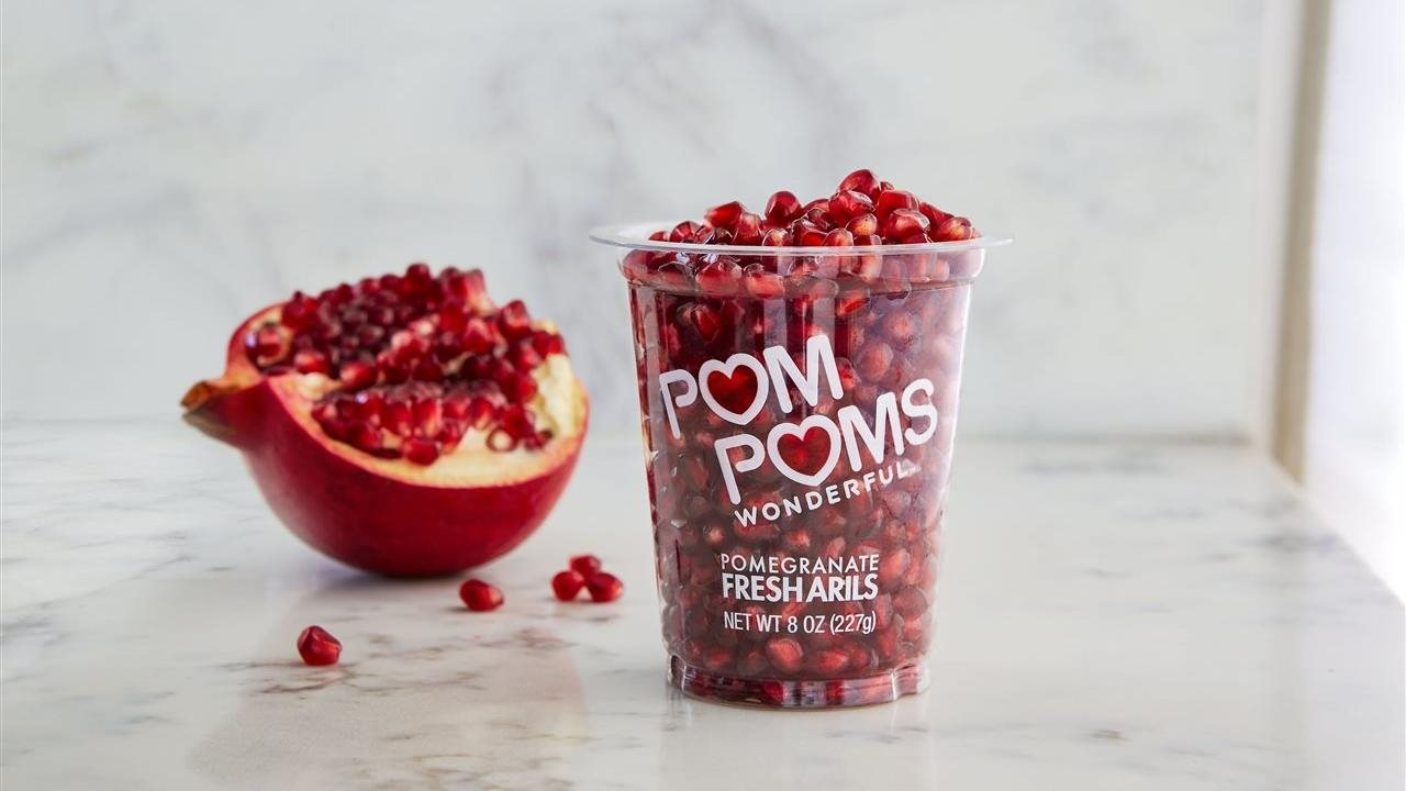 Pom poms in a cup