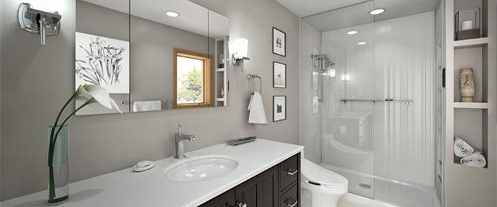 Up scale bath with shower and beautiful fixtures