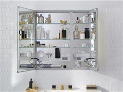inside of mirror cabinet over sink