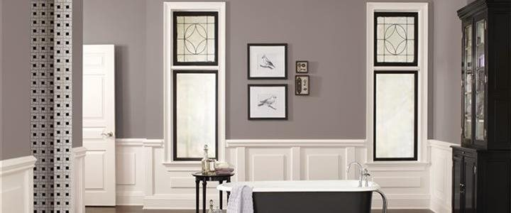 Poised Taupe Bathroom Courtesy of Sherwin-Williams