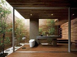 an upscal outdoor bathroom