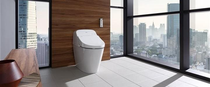 modern toilet in upscale apartment