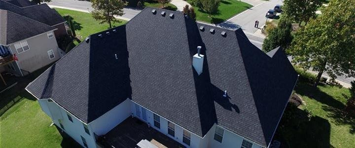 back of house airel shot of roof