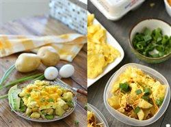two images of breakfast bowls