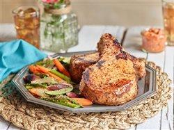 Sauteed Pork Chops with Romesco