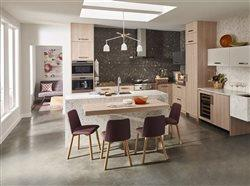 Kitchen with open floor plan and center island