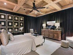 Beautiful bedroom with cypress wood ceiling