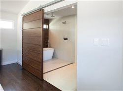 sliding door into bath