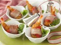 Proscuitto Wrapped Party Shrimp