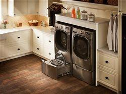 washer and dryer in upscale laundry room