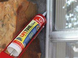 red devil water seal being used on a window