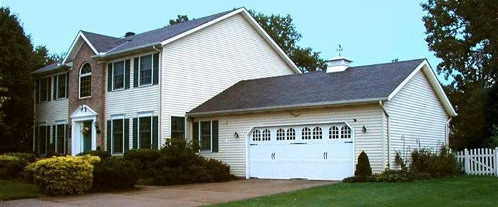 2 story house with attached garage