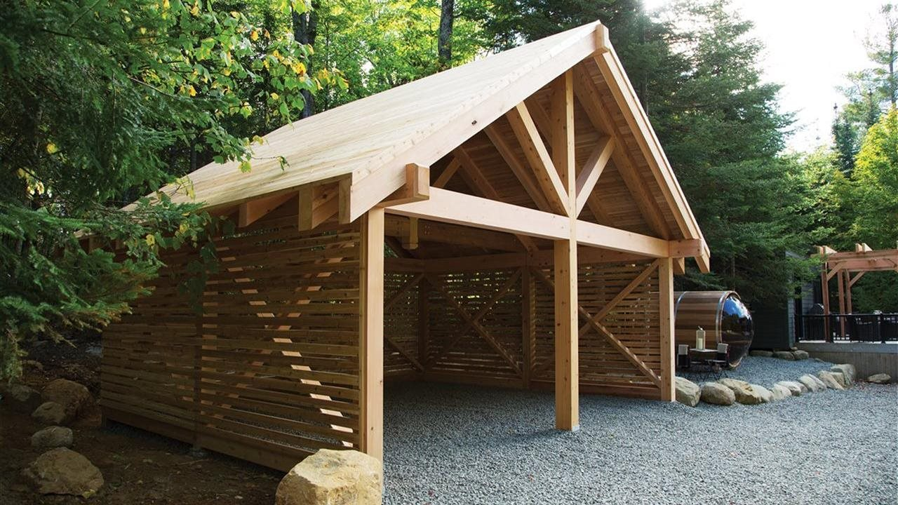 Western red cedar lumber used in provillian