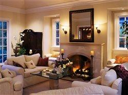 cozy warm livingroom with fireplace