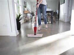 close  up of woman cleaning floor