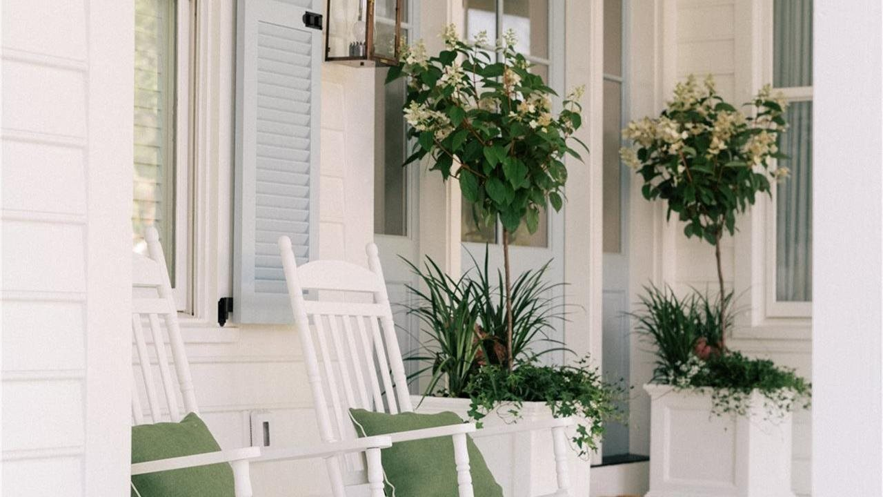 flowers and pots on porch