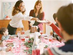 family having holiday meal together