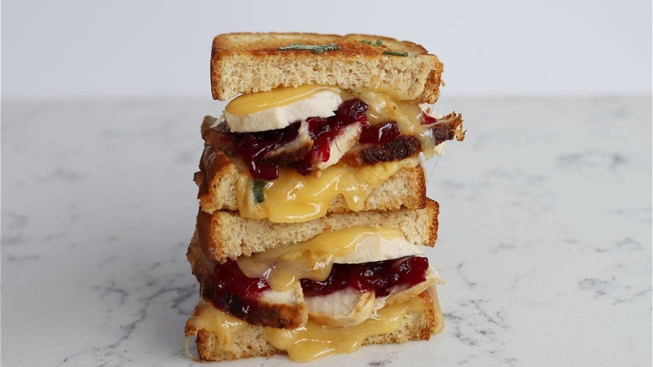 double stacked grilled cheese sandwich