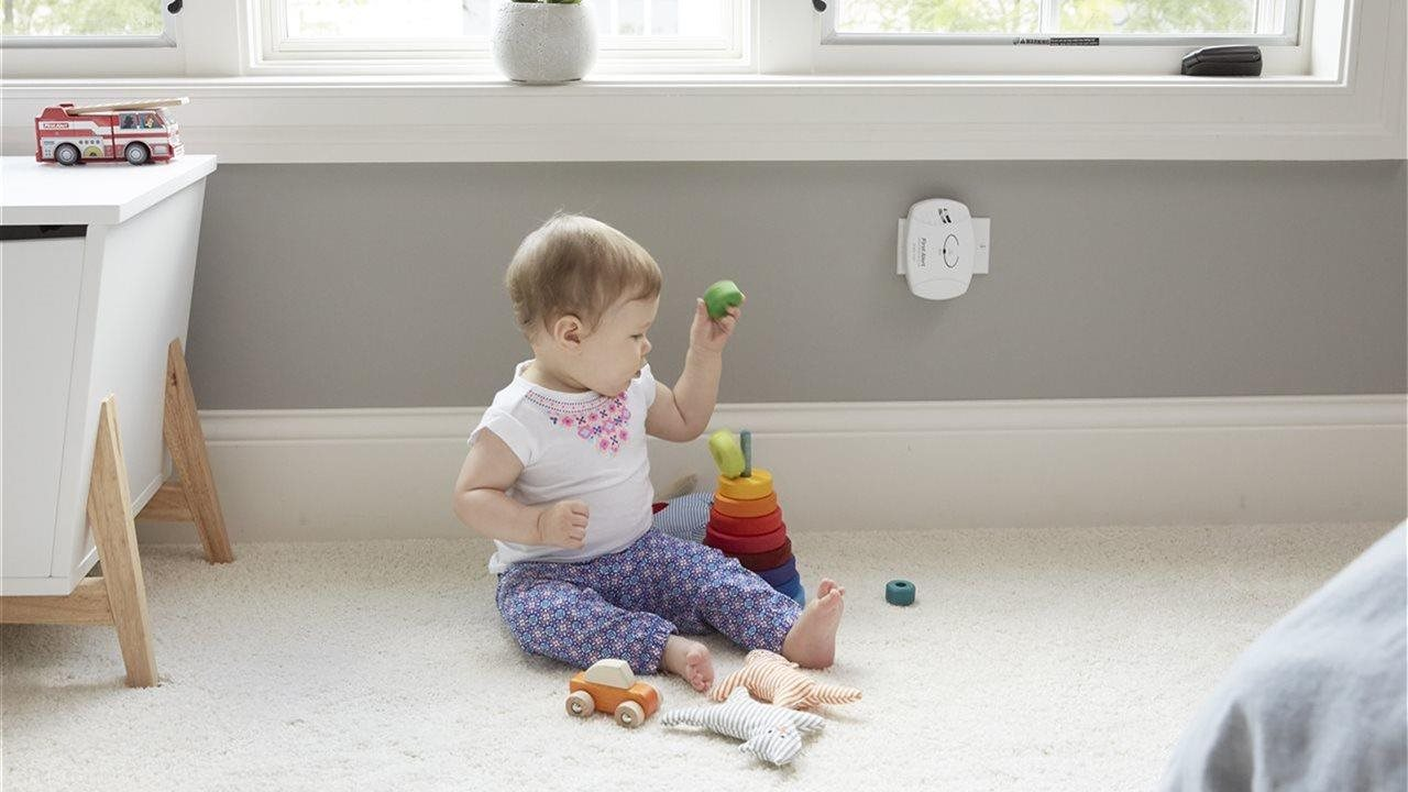 baby playing in room