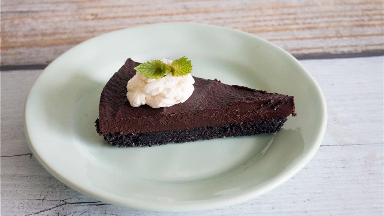 chocolate Peppermint Truffle Tart