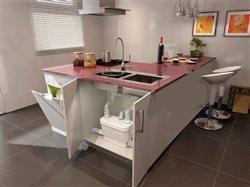 center island in a kitchen