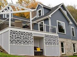 chic lattice used under a deck